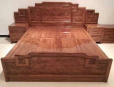 西安实木床  红木大床  南美酸枝实木床