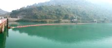罕庫勒水庫取水口垃圾攔截導漂浮筒裝置