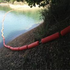 电厂进水口拦垃圾塑料浮体圆筒形浮排施工