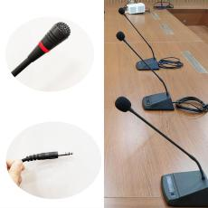 臺式鵝頸式有線會議話筒由功放供電不用電池
