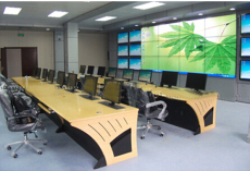 指挥中心调度台监控台操作台弧形控制台