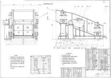 YA1536單層圓振動篩CAD制造圖紙
