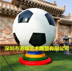 校園大型玻璃鋼足球雕塑與時俱進