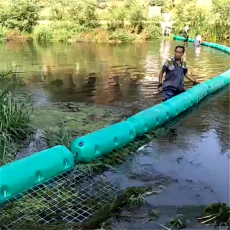 取水口圓桶形攔污浮排活動式攔漂裝置
