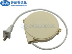 国标2芯电源插头伸缩卷线器