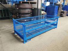 定制折叠式金属周转箱 不锈钢铁箱环保仓储