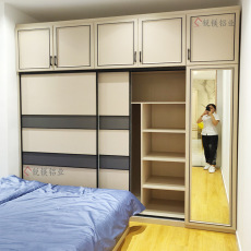 新款全铝合金衣柜全铝家具布纹衣柜高端定制