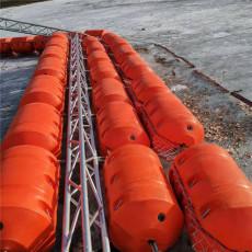 漂浮式拦污浮排管式浮筒施工方案