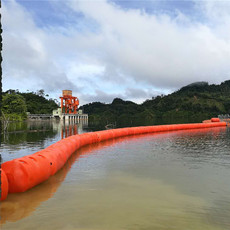 小型水电站垃圾导漂浮筒式拦污排装置
