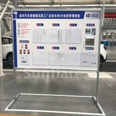 A生产车间安全管理看板可移动双面磁性白板