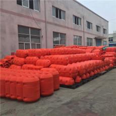 大唐水電站攔污漂浮筒式攔污排施工