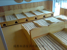 幼儿园实木高低床 绵阳幼儿园实木高低床厂
