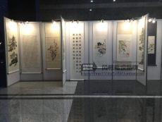 江西宜春成方八棱柱画展展板租赁搭建策划