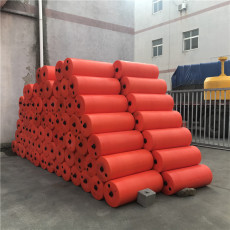 柱形浮式攔污排弧形攔漂設施安裝方案