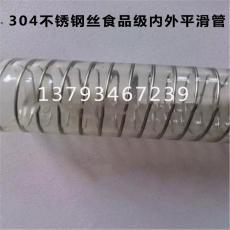 食品级钢丝pu软管 透明耐磨耐高温平滑管