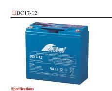 美國豐江蓄電池DC10-12 12V10AH參數及規格