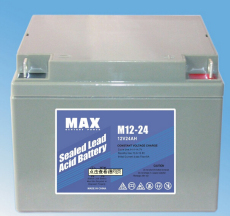 MAX免维护蓄电池M12-24 12V24AH总经销商