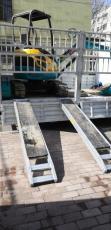 挖掘機鋁爬梯挖掘機鋁橋梯微挖鋁梯3.2米