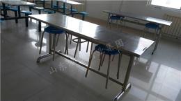 不锈钢架子 圆座 不锈钢桌面6人座餐桌椅