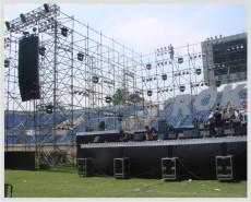 深圳市南山西麗音響背景墻展板桁架設備租賃