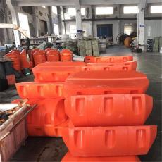 防腐塑料抬管浮体内河疏浚管线浮子安装