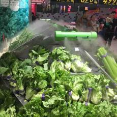 超市绿叶蔬菜架保鲜专用加湿器喷雾机