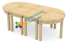 幼儿园北欧半圆组合桌小屋扮演收纳柜转角柜