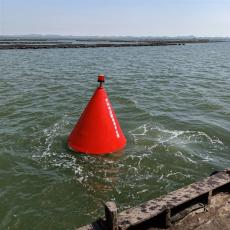 海域航道警示浮标1.5米聚乙烯航标尺寸详情