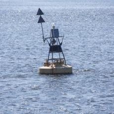 海上左右通航標航道浮標怎么固定
