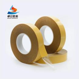 皇冠7965无痕耐高温双面胶 黄纸强力透明胶