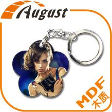 熱轉印MDF木質大號鑰匙扣A323