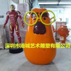 树脂卡通动物摆件吉祥物玻璃钢公仔雕塑定制