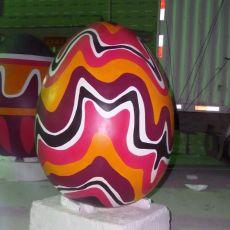 玻璃鋼蛋殼雕塑抽象蛋雕像彩繪蛋造型定制