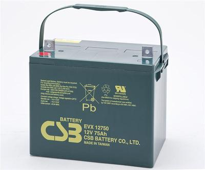 臺灣CSB蓄電池EVX12650 12V65AH浮充使用