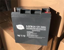 冠通蓄电池6-GFM-24免维护12V24AH安装价格