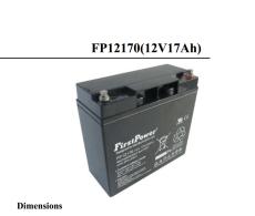 FP12170一电FirstPower蓄电池12V17AH配套
