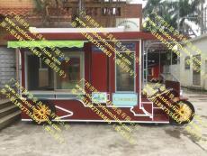 美食街移動售貨車精致時尚售貨亭小吃車