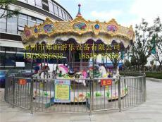 儿童游乐设备郑游游乐16座豪华转马