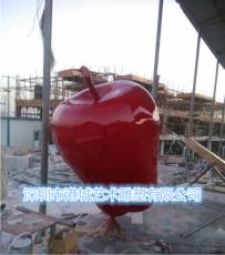 深圳玻璃鋼紅蛇果雕塑批發零售價格廠家