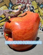 公園景觀仿真水果玻璃鋼紅蓮霧蛇果雕塑供應