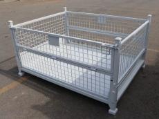 金属周转箱堆垛铁箱钢制铁箱重型仓储废料箱