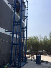 重庆载货式液压升降自动货梯现场加工