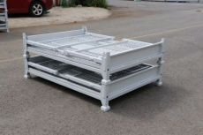 厂家直销金属折叠周转箱 锻造件运输箱