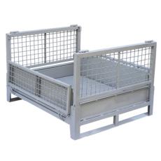 高承重折叠式料箱 钢制汽车零部件周转箱