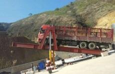 海西州石料快速卸车液压汽车翻板卸车机