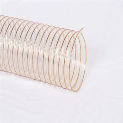 陕西透明pu钢丝管杜绝再生料聚氨酯吸尘管厂