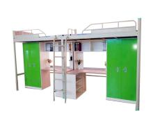 福建简约卡扣式学生公寓床多功能带衣柜书桌
