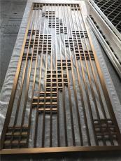 欧式铝板雕花钛金屏风隔断制品厂