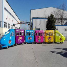 廣場游樂設備小火車大型游樂軌道類小火車