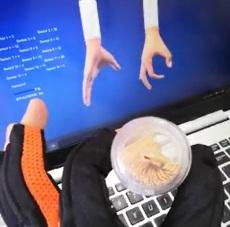 VR交互光纖傳感機器人主從手數據手套